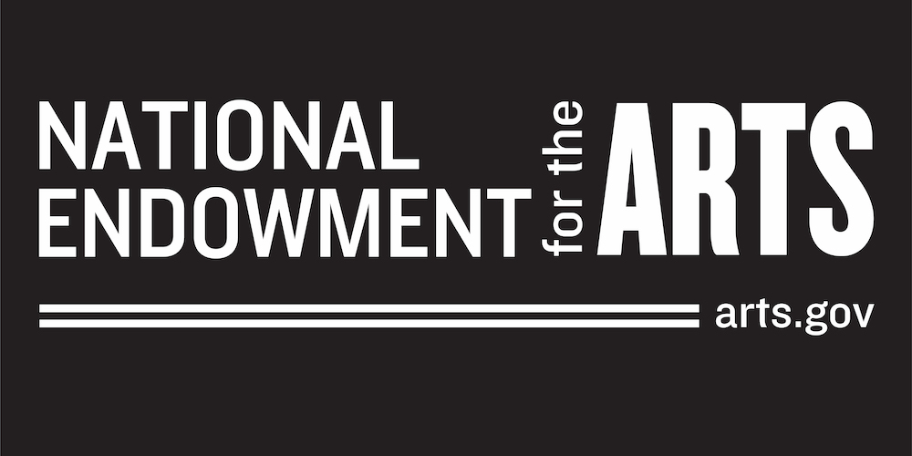 National Endowment for the Arts Logo with White Text over a Black Background.