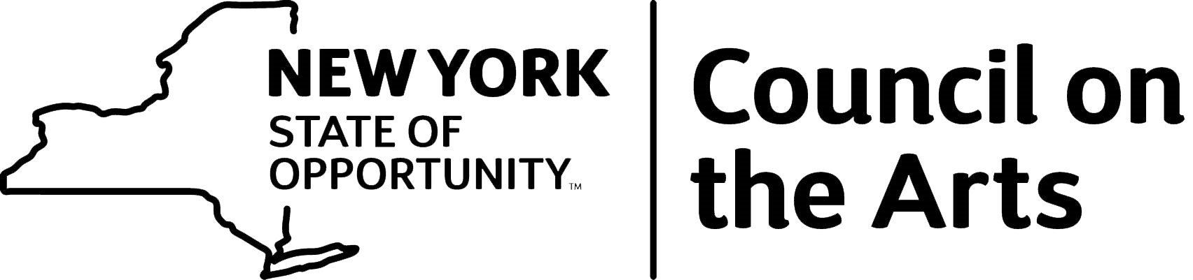 New York State Council on the Arts Logo in black text and outline.