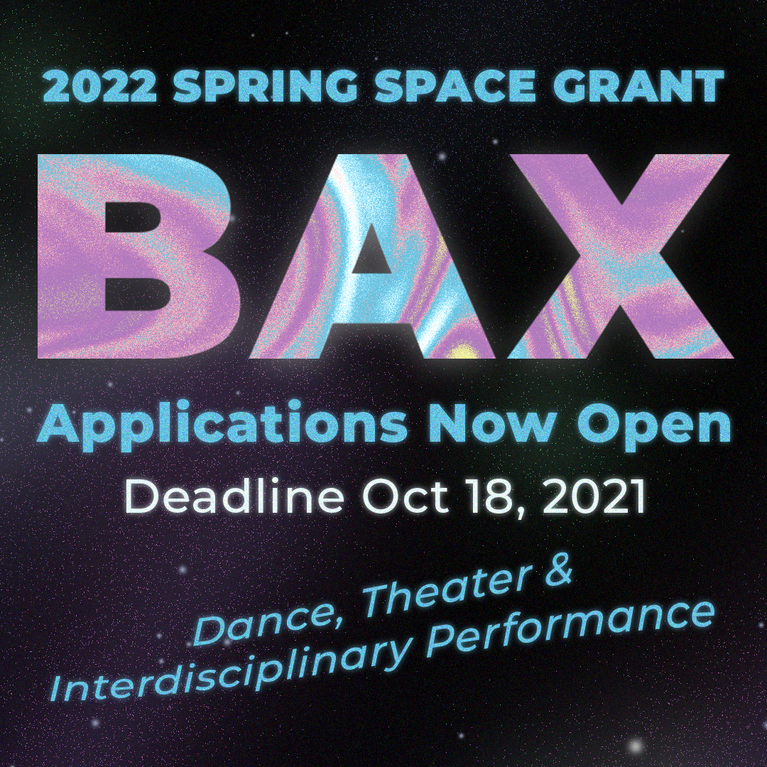 BAX Space Grant Cover Slide Design in Blue and Purple Space Theme.